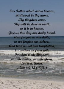 Lord's Prayer copy