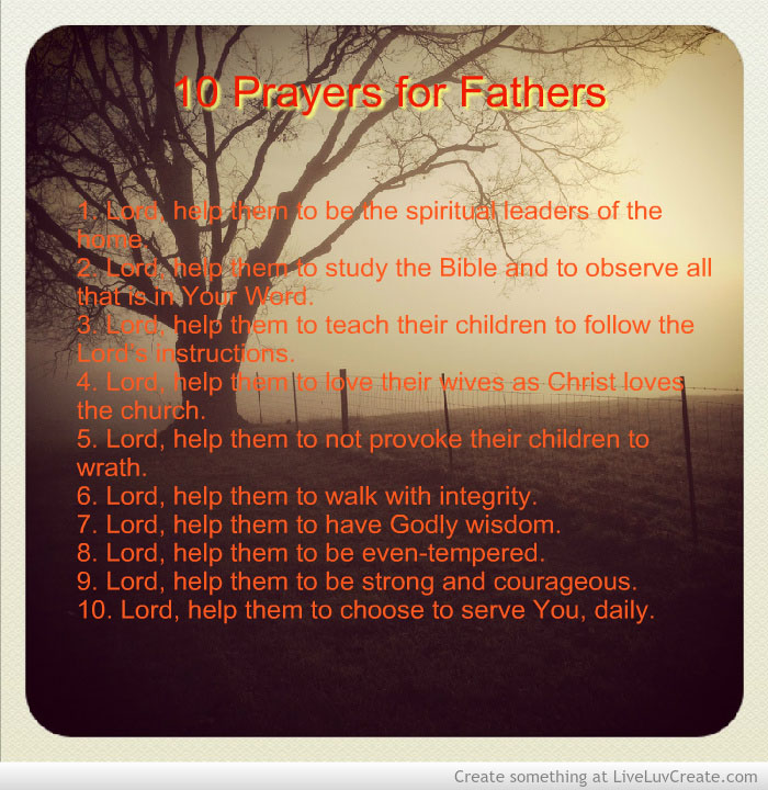 10 Prayers for Fathers