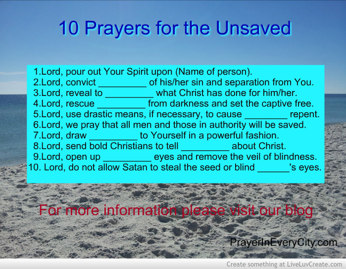 10 Prayers for the Unsaved