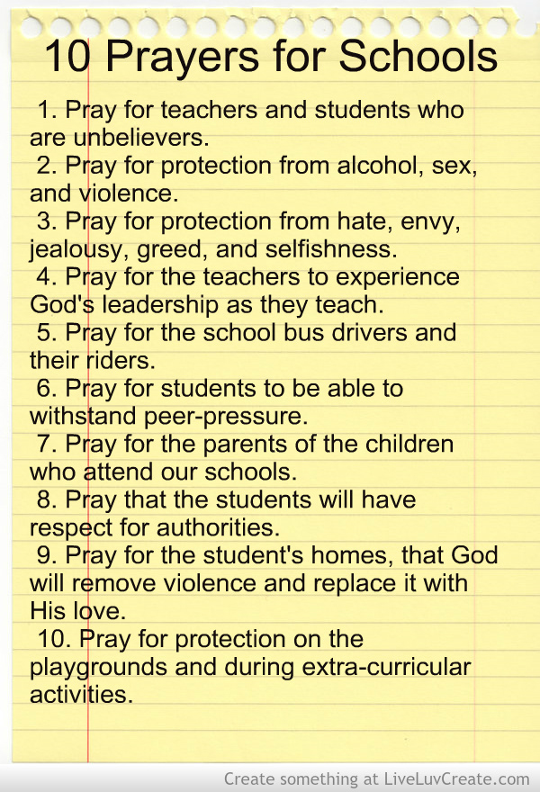 10 Prayers for Schools