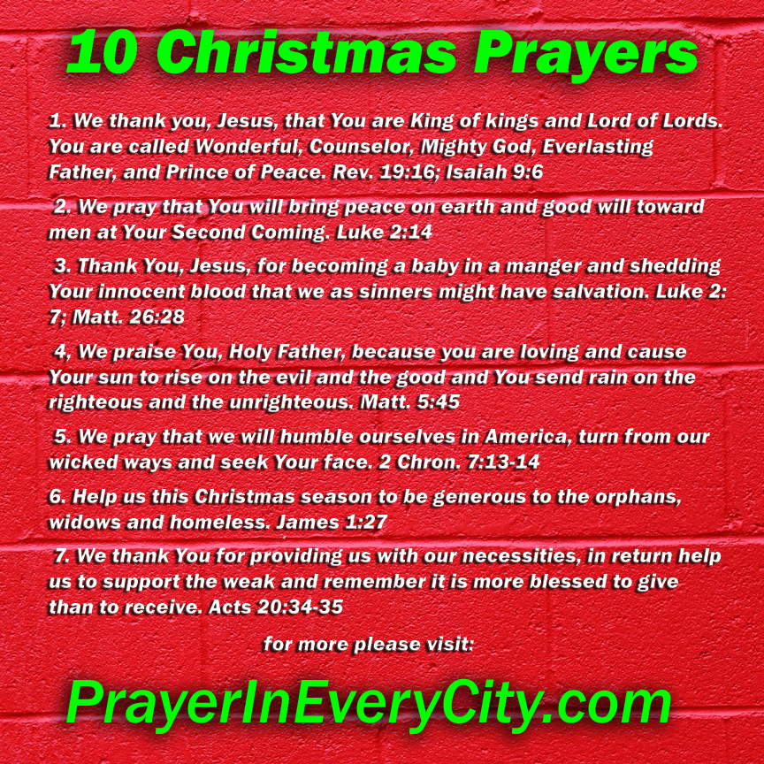 10 Christmas Prayers