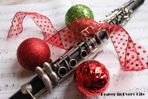 Clarinet Christmas Music Photo