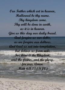 Lord's Prayer copy