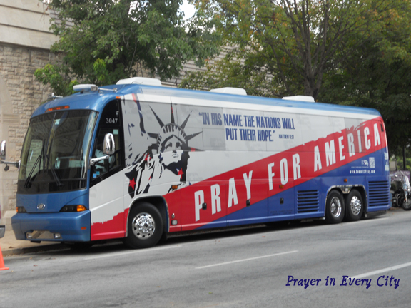 National Day of Prayer bus