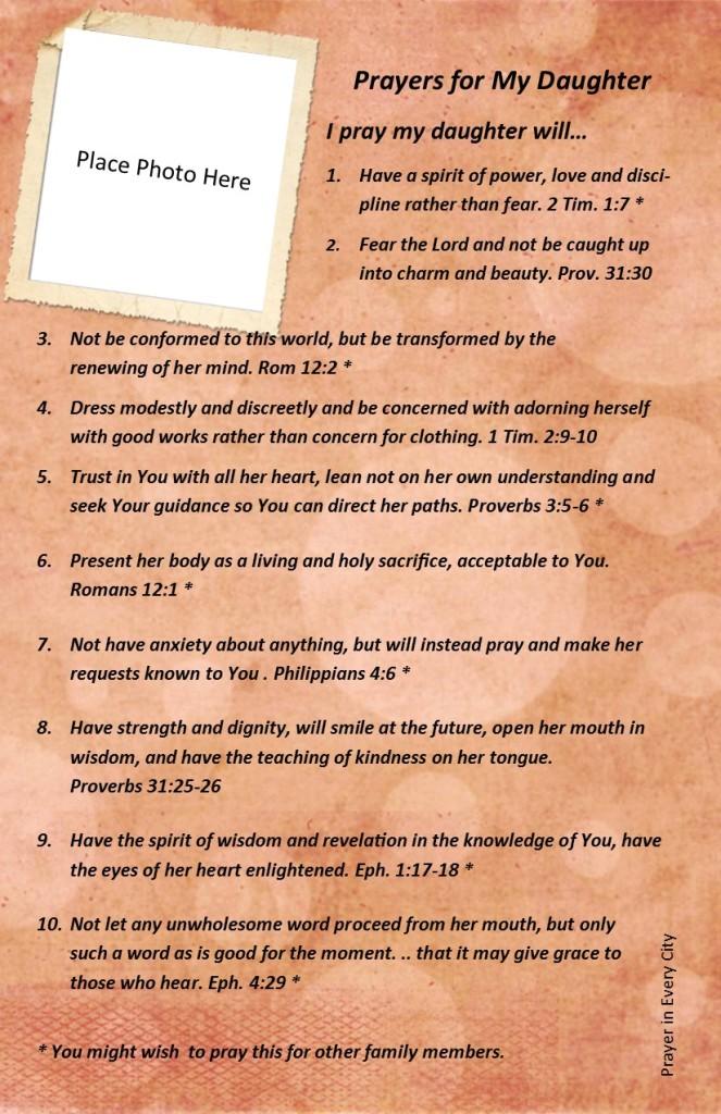 Family Photo Prayer Journal Page