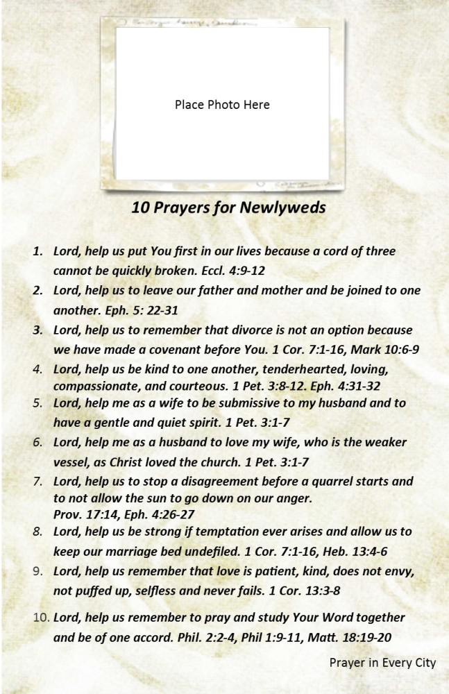 10 Prayers for Newlyweds - NEW! (2/2)