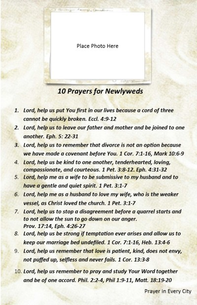 10 Prayers for Newlyweds PJ