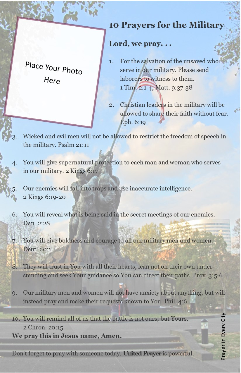 10 Prayers for the Military | Prayer In Every City