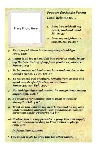 Prayers for Single Parent Family