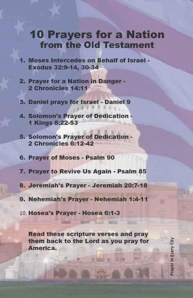 Exodus 32, 2 Chronicles 14:11, Daniel 9, 1 Kings 8:22-53, 2 Chronicles 6, Psalm 90, Psalm 85, Nehemiah 1, Hosea 6