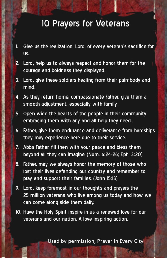 10 Prayers for Veterans