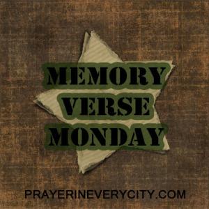 Memory Verse Monday