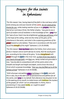 Prayer in Every City Paul's Prayers in Ephesians