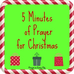 5 Minutes of Prayer sign