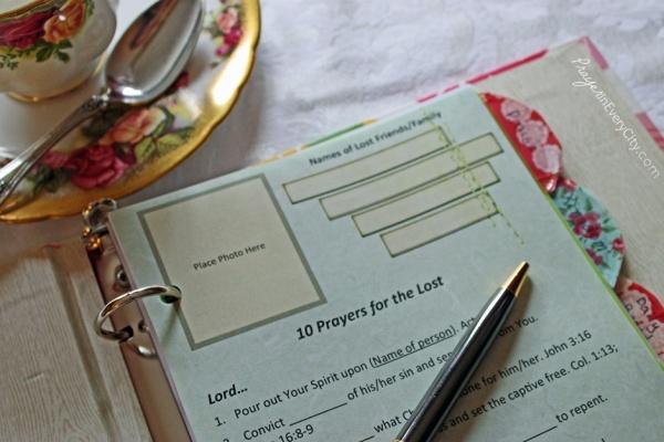 Photo Prayer Journal Open Lost