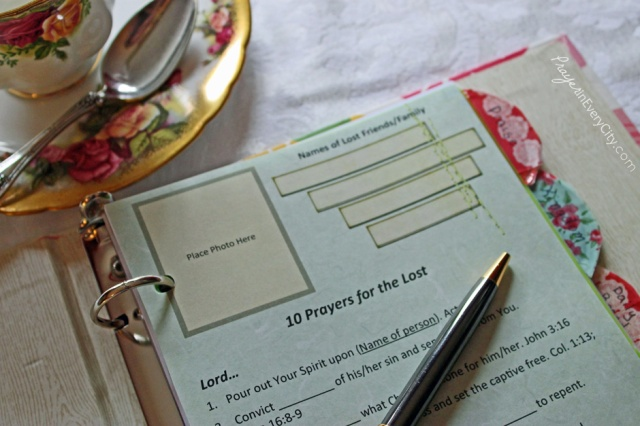 Photo Prayer Journal Open Lost
